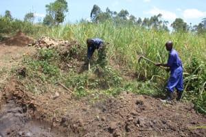 The Water Project: Litinye Community, Vuyanzi Spring -  Site Clearance