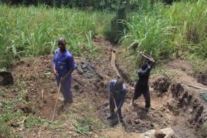 The Water Project: Litinye Community, Vuyanzi Spring -  Excavation