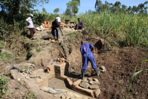 The Water Project: Litinye Community, Vuyanzi Spring -  Construction Site
