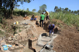 The Water Project: Litinye Community, Vuyanzi Spring -  Stair Construction