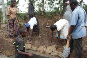 The Water Project: Litinye Community, Vuyanzi Spring -  Grass Planting