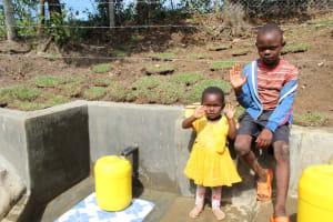 The Water Project: Litinye Community, Vuyanzi Spring -  Children Pose At The Spring