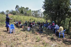 The Water Project: Litinye Community, Vuyanzi Spring -  Handwashing Demonstration