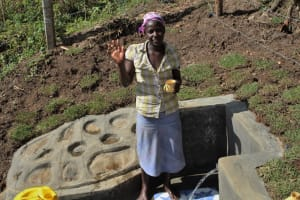 The Water Project: Litinye Community, Vuyanzi Spring -  High Five For Clean Water