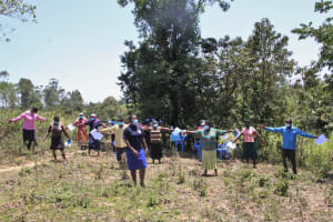 The Water Project: Litinye Community, Vuyanzi Spring -  Physical Distancing Check