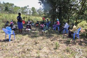 The Water Project: Litinye Community, Vuyanzi Spring -  Safe Water Handling Training