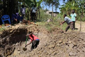 The Water Project: Mayuge Community, Ucheka Spring -  Excavation Of Site