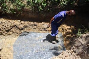 The Water Project: Mayuge Community, Ucheka Spring -  Setting The Foundation