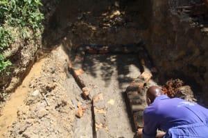 The Water Project: Mayuge Community, Ucheka Spring -  Brick Setting