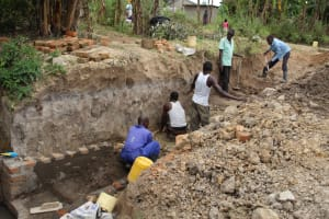 The Water Project: Mayuge Community, Ucheka Spring -  Stair Construction
