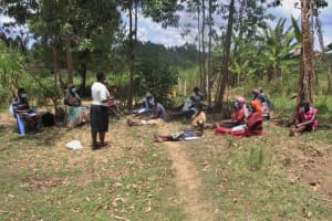 The Water Project: Mayuge Community, Ucheka Spring -  Braving The Hot Sun To Attend The Training