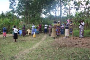 The Water Project: Mayuge Community, Ucheka Spring -  Handwashing Demonstration