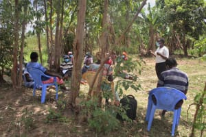 The Water Project: Mayuge Community, Ucheka Spring -  Training Venue Under A Tree