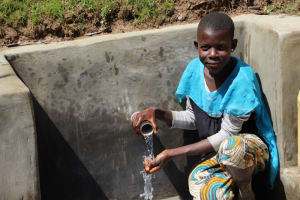 The Water Project: Mayuge Community, Ucheka Spring -  Water Happiness