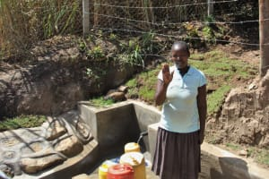 The Water Project: Mayuge Community, Ucheka Spring -  A Wave Of Thanks