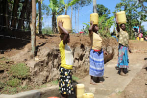 The Water Project: Mayuge Community, Ucheka Spring -  Ready To Bring Clean Water Home