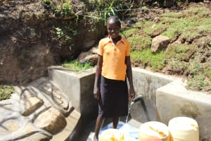 The Water Project: Mayuge Community, Ucheka Spring -  Smiles At The Spring