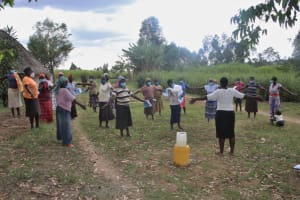 The Water Project: Mayuge Community, Ucheka Spring -  Spreading Out To Observe Physical Distancing
