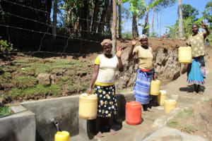 The Water Project: Mayuge Community, Ucheka Spring -  Women Pose At The Spring