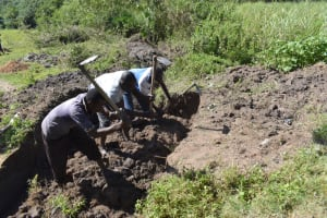 The Water Project: Makale Community, Kwalukhayiro Spring -  Excavation Of Site