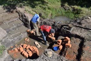The Water Project: Makale Community, Kwalukhayiro Spring -  Wall Construction