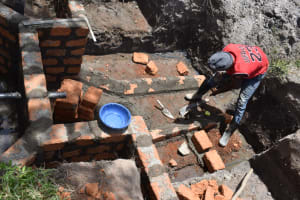 The Water Project: Makale Community, Kwalukhayiro Spring -  Staircase Construction