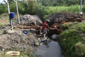 The Water Project: Makale Community, Kwalukhayiro Spring -  Inside Plastering