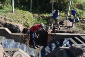 The Water Project: Makale Community, Kwalukhayiro Spring -  Plaster Works