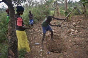 The Water Project: Makale Community, Kwalukhayiro Spring -  Demonstrating How To Make A Compost Pit