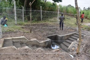 The Water Project: Makale Community, Kwalukhayiro Spring -  Fencing