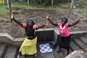 The Water Project: Makale Community, Kwalukhayiro Spring -  The Joy Of Clean Water