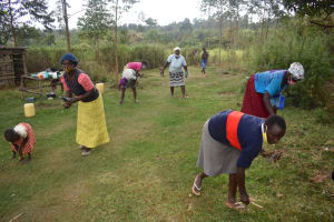 The Water Project: Makale Community, Kwalukhayiro Spring -  Environmental Hygiene Training Includes Compound Cleaning