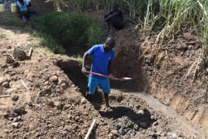 The Water Project: Wepika Community, Musa Mmasi Shikwe Spring -  Excavation Of Construction Site