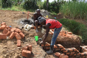 The Water Project: Wepika Community, Musa Mmasi Shikwe Spring -  Staircase Construction