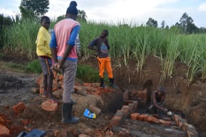 The Water Project: Wepika Community, Musa Mmasi Shikwe Spring -  Stairs Construction