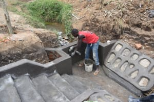 The Water Project: Wepika Community, Musa Mmasi Shikwe Spring -  Plaster Works