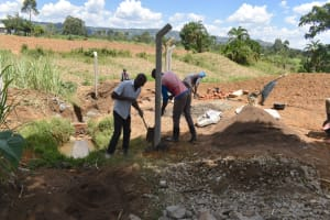 The Water Project: Wepika Community, Musa Mmasi Shikwe Spring -  Fencing Of The Spring