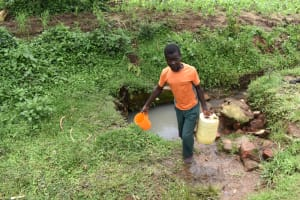 The Water Project: Sundulo B Community, Luvisia Spring -  Carrying Water