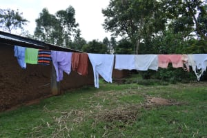 The Water Project: Sundulo B Community, Luvisia Spring -  Clothesline