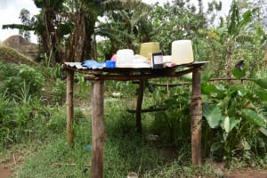 The Water Project: Sundulo B Community, Luvisia Spring -  Dishrack