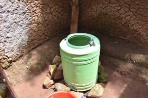 The Water Project: Sundulo B Community, Luvisia Spring -  Rainwater Harvesting Container