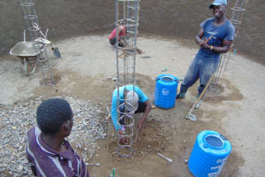 The Water Project: Gimarakwa Primary School -  Pillar Placement And Setting