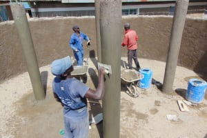 The Water Project: Gimarakwa Primary School -  Pillar Plastering