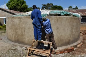 The Water Project: Gimarakwa Primary School -  Tightening The Frame Of The Dome