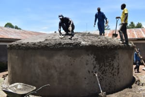 The Water Project: Gimarakwa Primary School -  Dome Casting