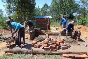 The Water Project: Gimarakwa Primary School -  Brick Setting For Latrines
