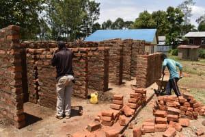 The Water Project: Gimarakwa Primary School -  Latrine Brick Work