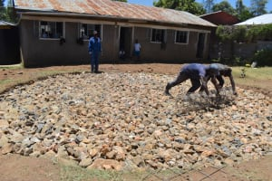 The Water Project: Gimarakwa Primary School -  Laying Wire Reinforcement