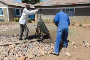 The Water Project: Gimarakwa Primary School -  Concrete Foundation Setting