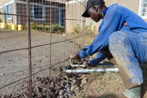 The Water Project: Gimarakwa Primary School -  Setting The Tap